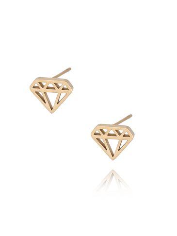 Kolczyki złote diamenty ze stali szlachetnej KSA0090