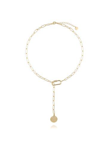 Naszyjnik z łańcuszkiem i monetą NRG0184