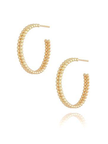 Kolczyki złote koła KRG0617