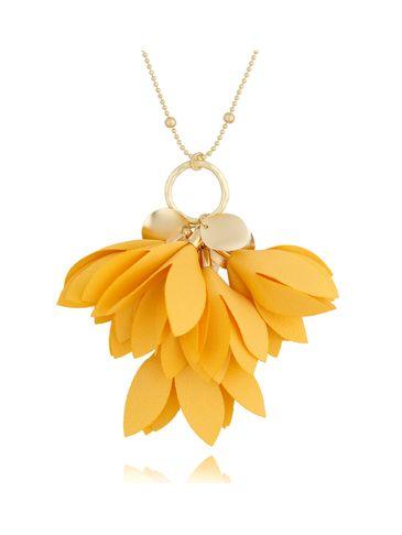 Naszyjnik złoty z kwiatem żółty NBL0035