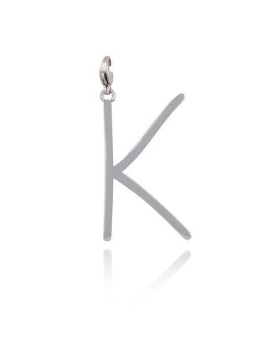Zawieszka ze stali szlachetnej srebrna literka K Alphabet NAT0041