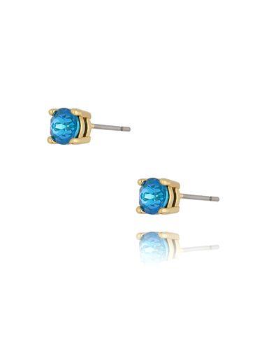 Kolczyki wkrętki z kryształkami niebieskie KRG0701