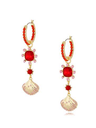 Kolczyki z kryształkami czerwone KSS0855