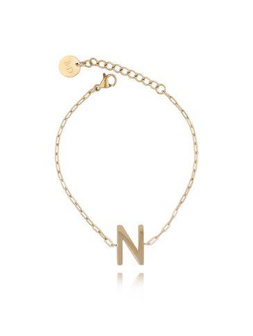 Bransoletka złota z literką N BAT0106