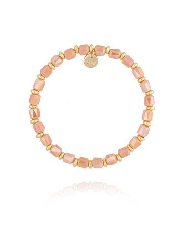 Bransoletka z brzoskwiniowymi kryształkami BBL0180