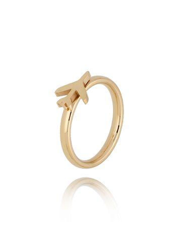 Pierścionek złoty ze stali szlachetnej z samolotem PSA0177 rozmiar 10