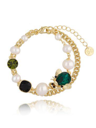Bransoletka z perłami i owadem BMI0061