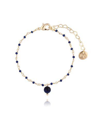 Bransoletka z kryształkami i granatowym tygrysim okiem BOA0017