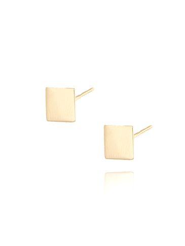 Kolczyki srebrne pozłacane kwadraciki  KSE0053