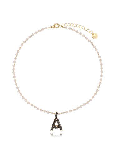 Naszyjnik złoty łańcuch z literą A NRG0292