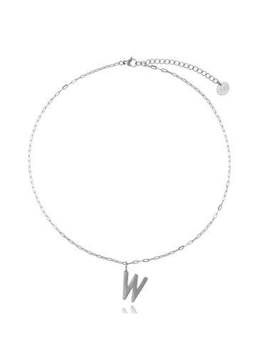 Naszyjnik srebrny z literką W NAT0203