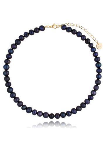 Naszyjnik z ciemnych pereł Ink Pearls NPE0072