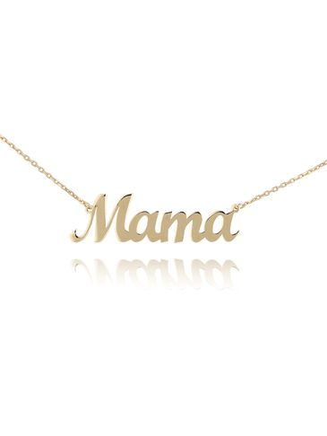 Naszyjnik srebrny pozłacany MAMA NSE0092
