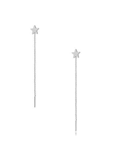 Kolczyki srebrne wiszące Long Star KSA0302