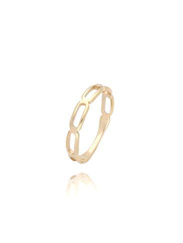 Pierścionek złoty ze stali szlachetnej PSA0015 Rozmiar 12