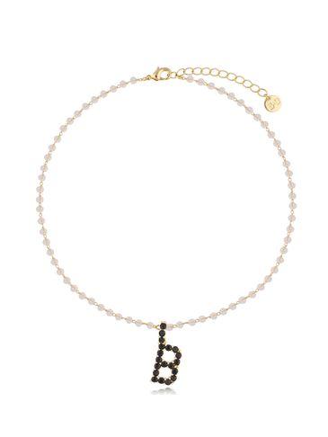 Naszyjnik kryształowy łańcuszek z literą B NRG0220