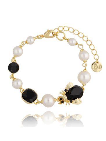 Bransoletka z perłami i owadem BMI0080