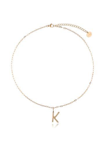 Naszyjnik złoty z literką K NAT0210