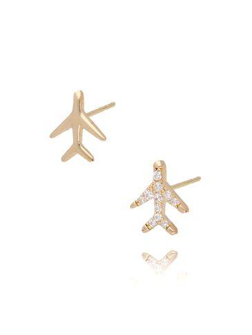 Kolczyki złote samoloty KGM0105