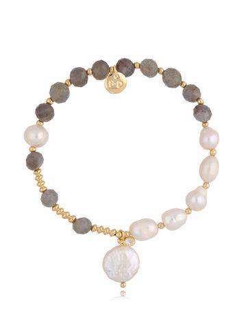 Bransoletka z perłami i labradorytami BPA0062