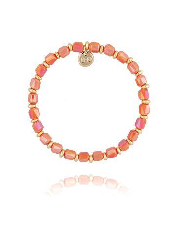 Bransoletka z pomarańczowymi kryształkami BBL0181