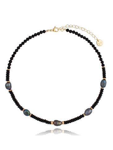 Naszyjnik z pereł i agatów Pearls&Stone NPE0083