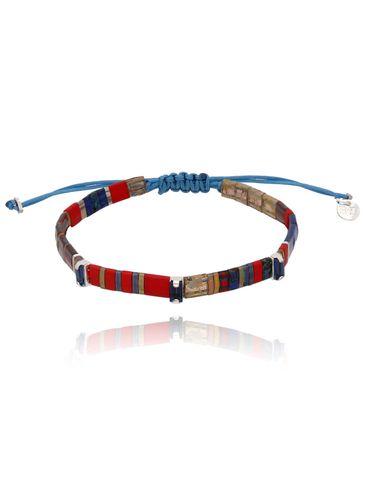 Bransoletka czerwono niebieska BLB0140