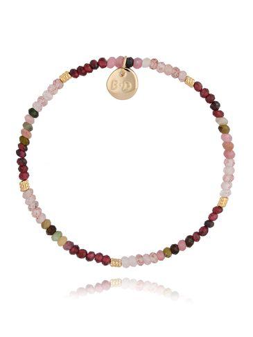 Bransoletka z rubinami i kwarcami BTW0422
