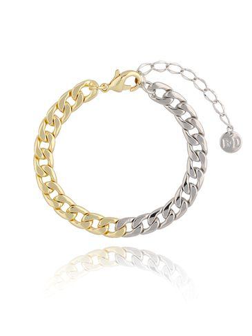 Bransoletka złoto srebrny łańcuch średni BRG0193