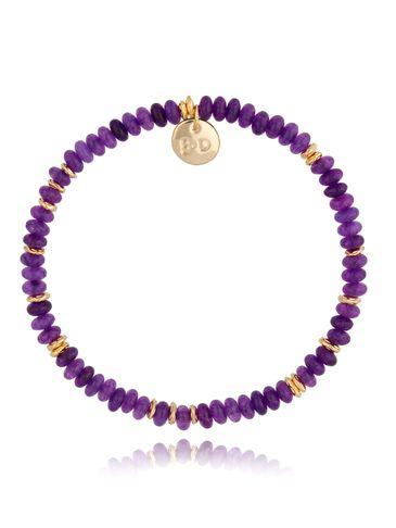 Bransoletka z ametystami fioletowo-złota Isabel BPA0121