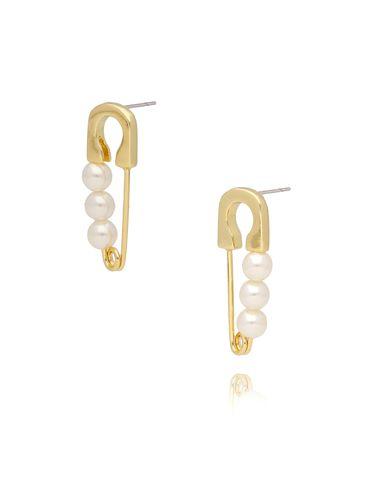 Kolczyki złote agrafki z perłamiKRG0579