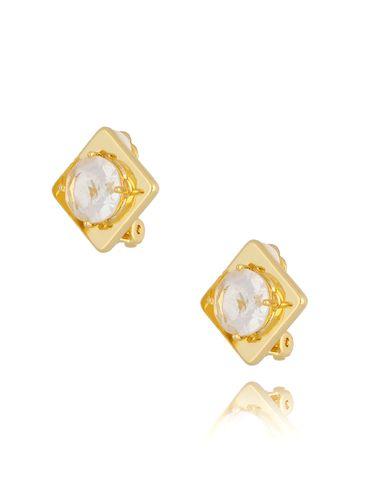 Klipsy z transparentnymi kryształkami KTO0002