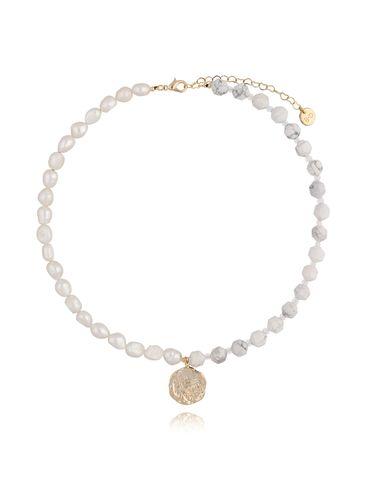 Naszyjnik biały z perłami NPA0147