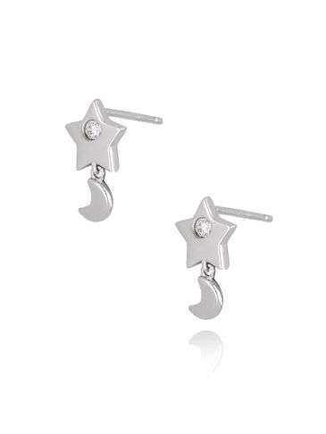 Kolczyki gwiazdki srebrne z cyrkoniami KFA0019