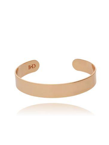 Bransoletka obręcz w kolorze różowego złota BNE0041
