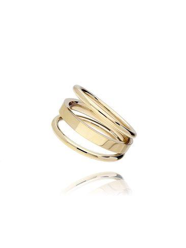 Pierścionek złoty ze stali szlachetnej PSA0085 rozmiar 18