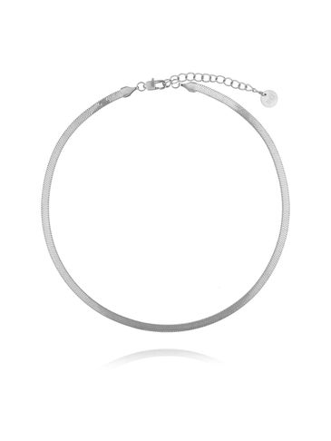 Naszyjnik srebrna żmijka stali szlachetnej NSA0069 35 cm