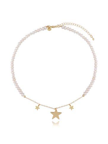 Naszyjnik z perłami i gwiazdkami NLB0013