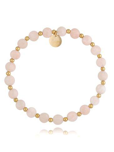 Bransoletka z różowymi kwarcami Rosaly BSC0962