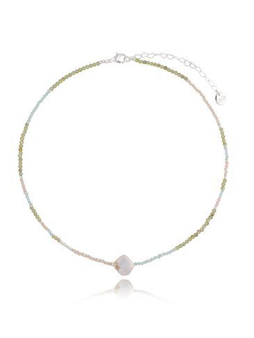 Naszyjnik pastelowy z perłą NTW0159