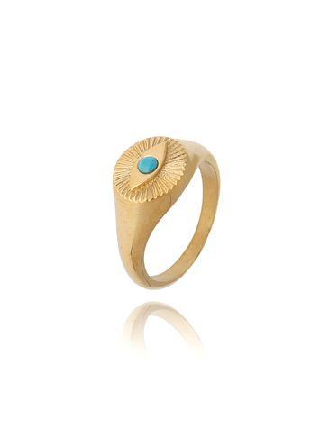 Pierścionek złoty sygnet ze stali szlachetnej PSA0125 Rozmiar 12