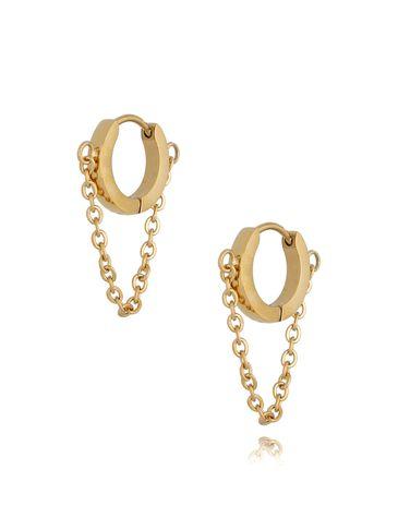 Kolczyki koła z łańcuszkiem złote KSA0163
