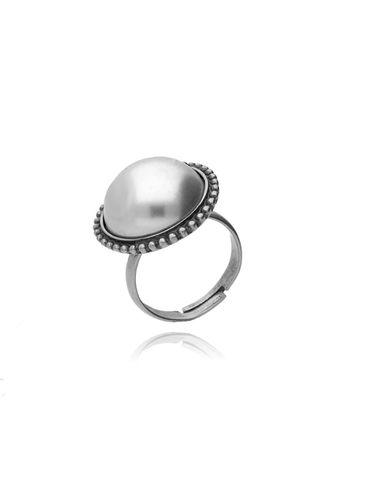 Pierścionek srebrny z perłą PTS0005