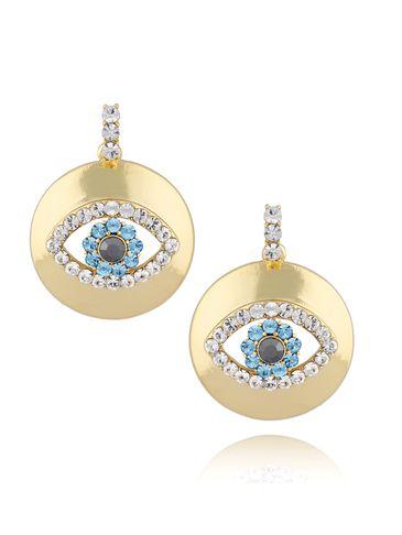 Kolczyki złote z motywem oka KRG0621