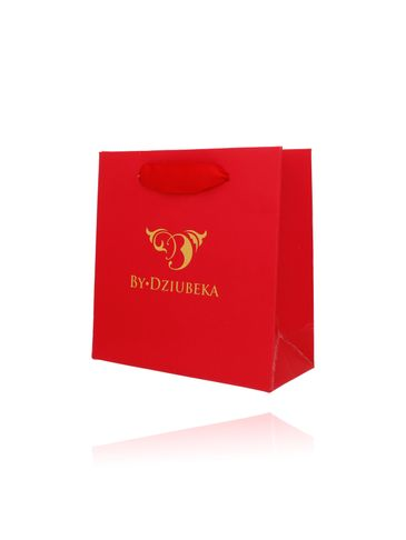 Torebka prezentowa mała czerwona OPA0161