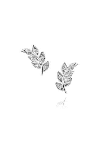 Kolczyki srebrne liście KGM0063