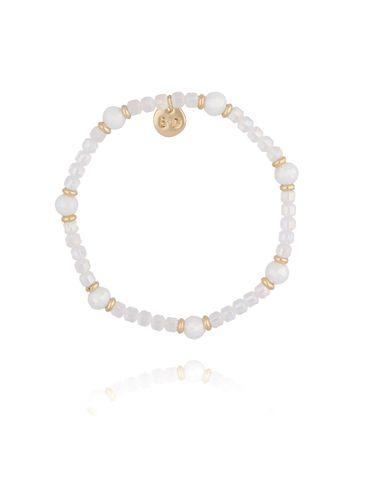 Bransoletka z biała kryształkami BBL0169