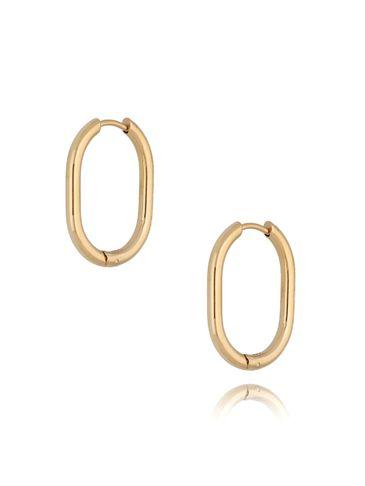Kolczyki złote owale ze stali szlachetnej KSA0211