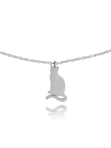 Naszyjnik srebrny z kotkiem ze stali szlachetnej NPS0019