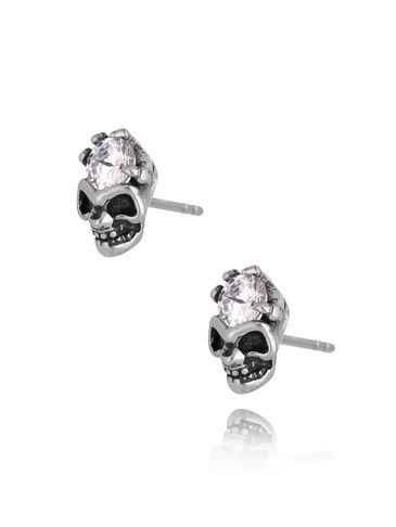 Kolczyki czaszki ze stali szlachetnej KMITC0003